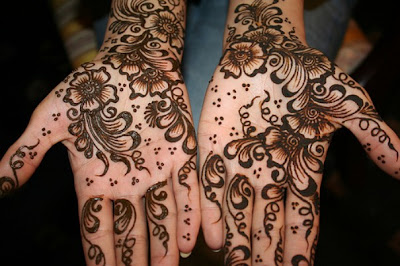 Pattern design in bridal Mehndi tattoos e-repeats.com