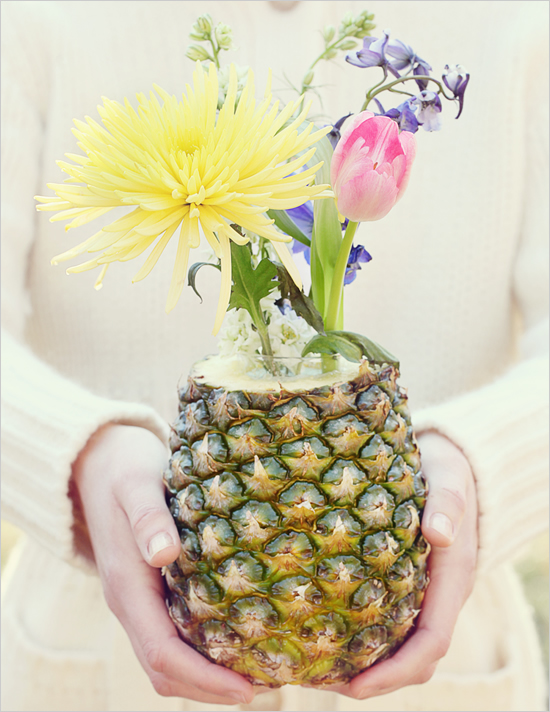 Be different act normal pineapple vase centerpiece