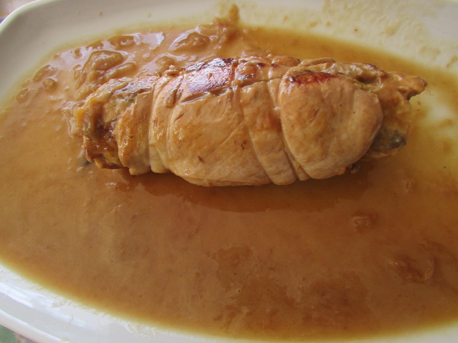 Con2sabor pechuga rellena con salsa de cebolla - Salsas para pechuga de pollo ...