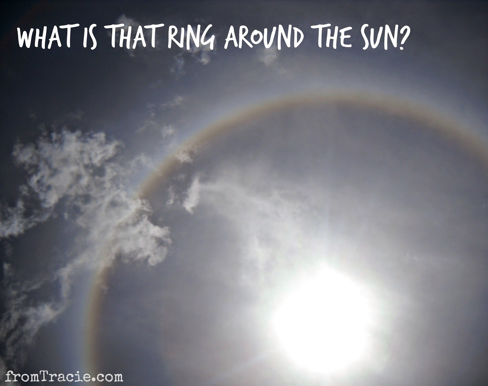 What is the ring around the sun?
