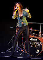 Victoria Justice performing on stage