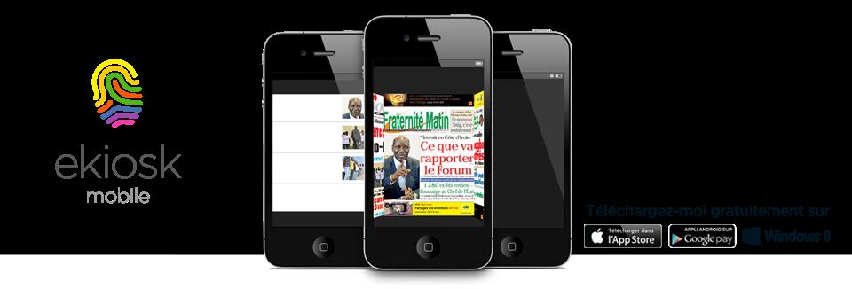 c te d 39 ivoire ekiosk mobile le premier kiosque journaux panafricain qui vous fera. Black Bedroom Furniture Sets. Home Design Ideas