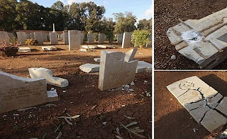 70 year old WWII Christian graves were desecrated for a second time in Benghazi