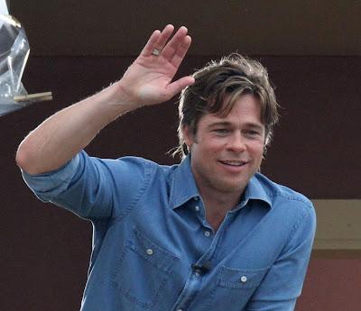 Brad Pitt's hands.