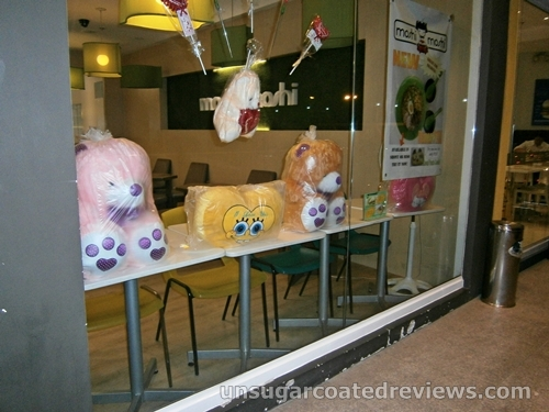 Valentine's Day window display at Moshi Moshi Japanese restaurant