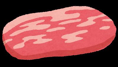 豚肉の切り身のイラスト