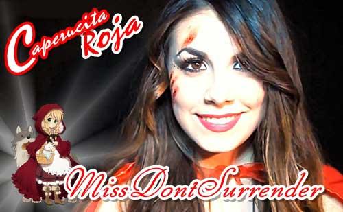 Maquillaje de Caperucita Roja por Miss Dont Surrender