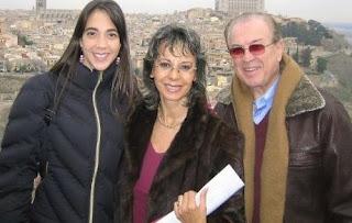 Chiara Pinasco y sus padres Sonia Oquendo y Rulito Pinasco