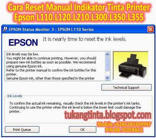 Pusat Modifikasi Printer Infus: Cara Reset Manual