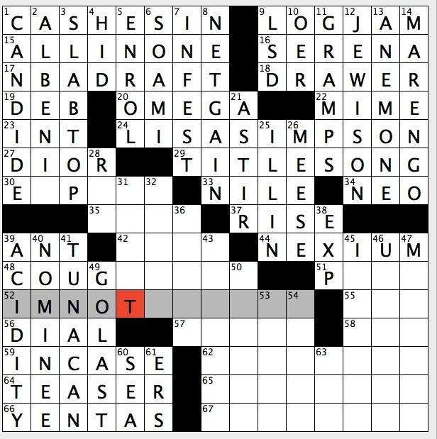 flirting with disaster star crossword clue words game video