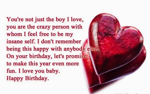 Love Birthday Quotes Amazing Cute Happy Birthday Quotes For Boyfriend  This Blog About Health