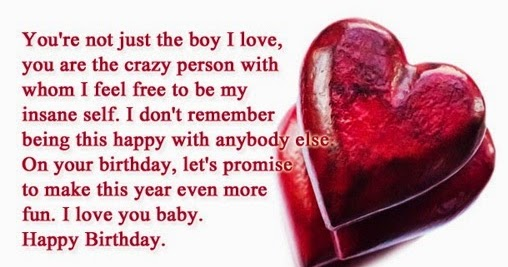 Happy Birthday Quotes Male ~ Cute happy birthday quotes for boyfriend this about health