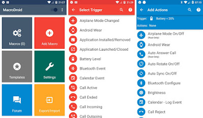Ações automáticas no android macrodroid