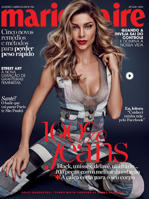 Actress, Model @ Grazi Massafera - Marie Claire Brazil, July 2015