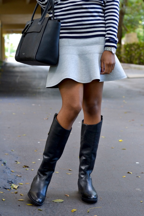 Fall Outfit Ideas | Flare Skirt With Boots