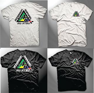 camisa branca e preta equipe de jiu jitsu