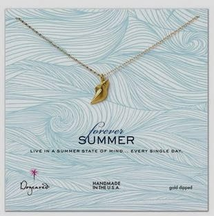 Dogeared forever summer conch shell necklace