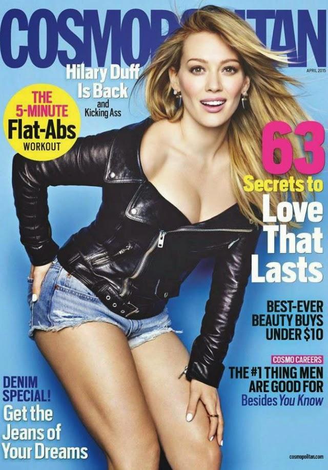 Hilary Duff en portada de Cosmopolitan Magazine