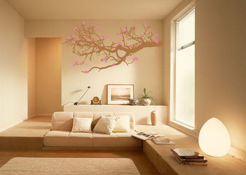 House of furniture latest living room wall decorating ideas - Wall sticker ideas for living room ...