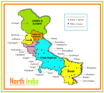 North India tours/travels/packages flights places to visit/see map news tourist trips hill stations