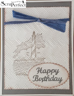 An interesting and beautiful way of using stamps and embossing folders