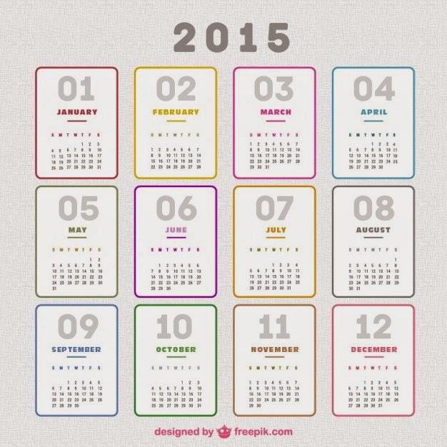 percuma kalendar 2015 template