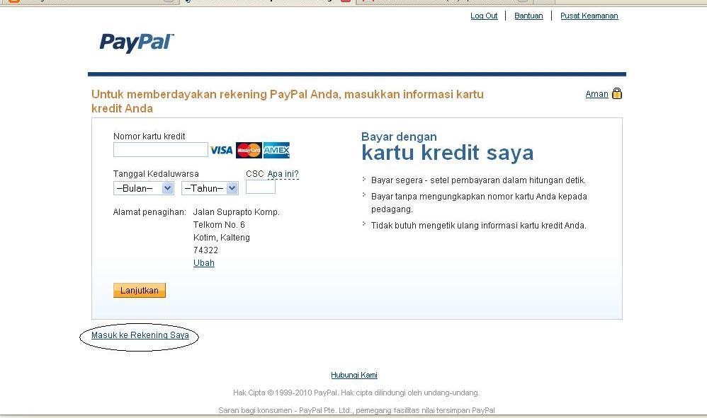 tutorial sigup paypal