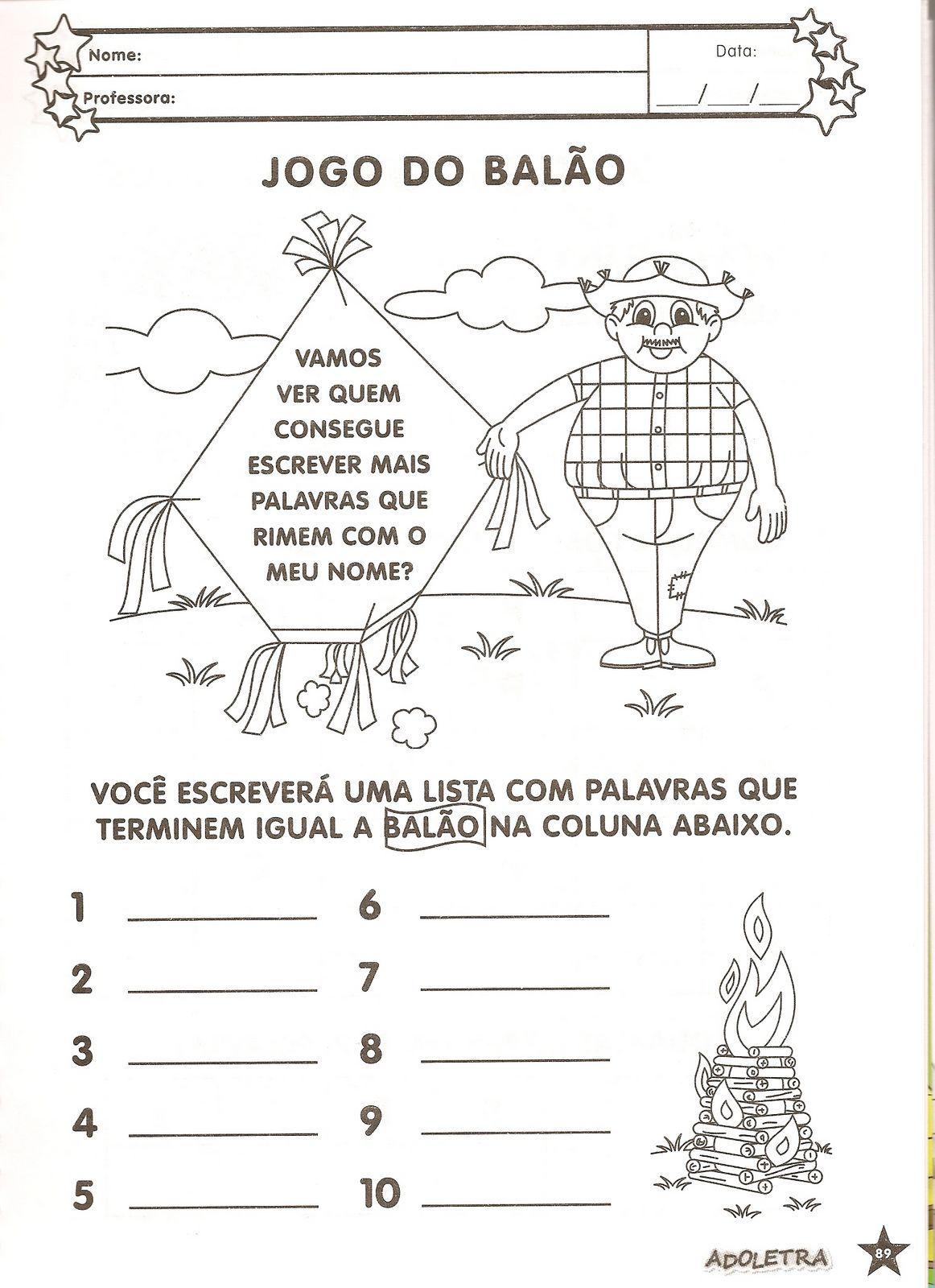 Favoritos Atividades para colorir infantil: Atividades com o tema Festas  LC44
