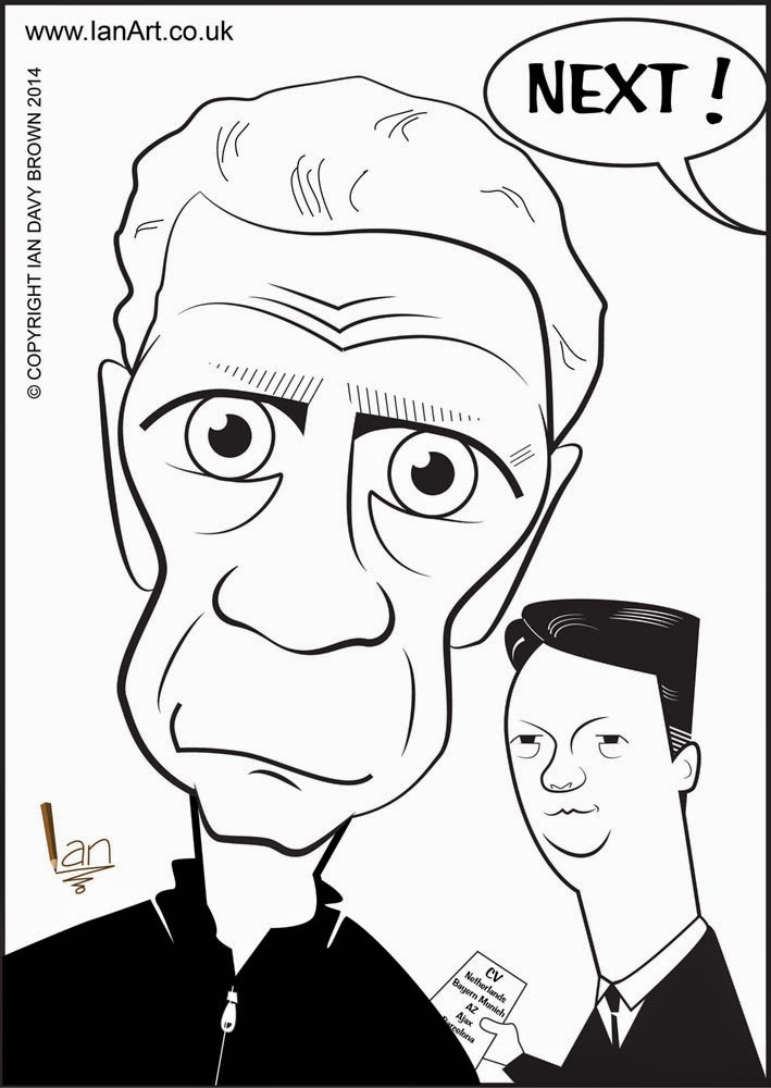 David Moyes Louis van Gaal caricature