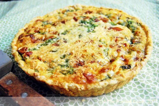 The harried cook spinach bacon quiche for Quiche not setting