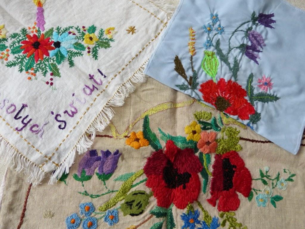 haft płaski, haft vintage, pasjonaci haftu, hand flat embroidery,