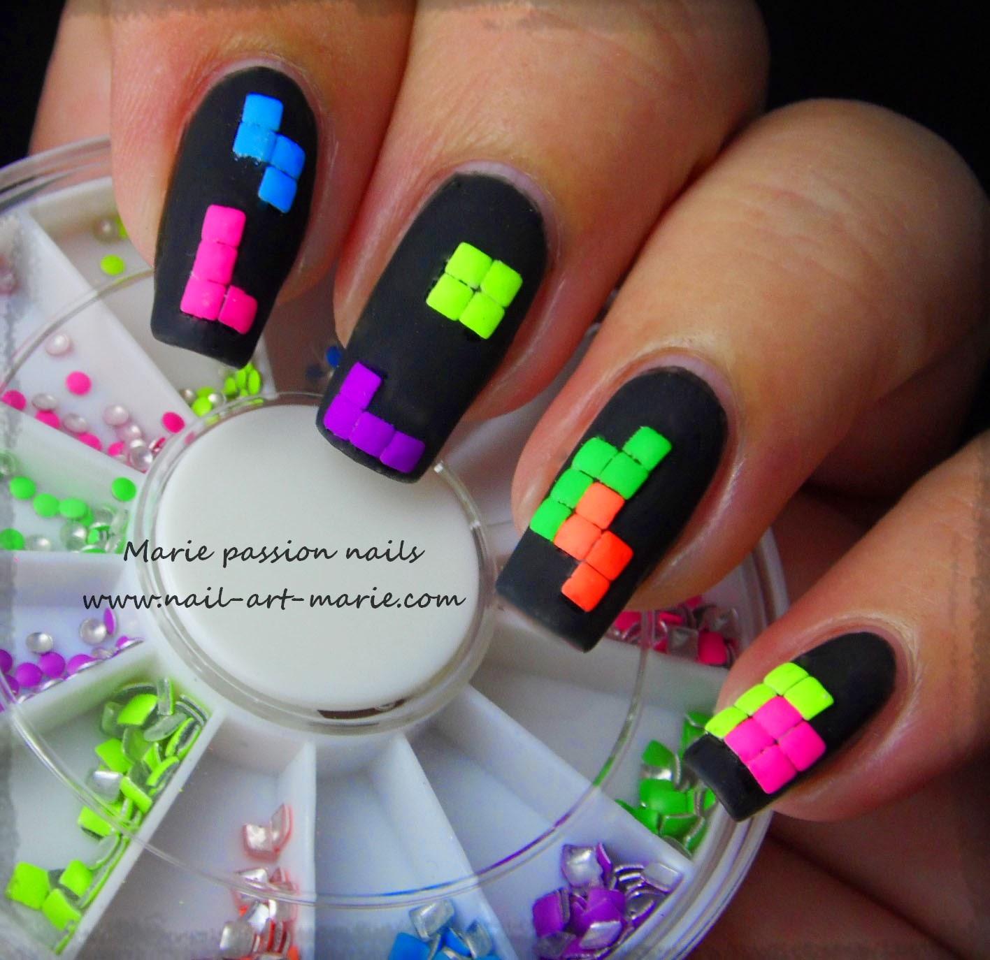 nail art tétris1