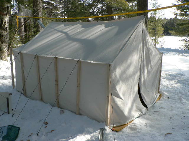 The set up wall tent. & Damn Yak Dry Goods Co.: Hot Tenting Trial - Algonquin Park.