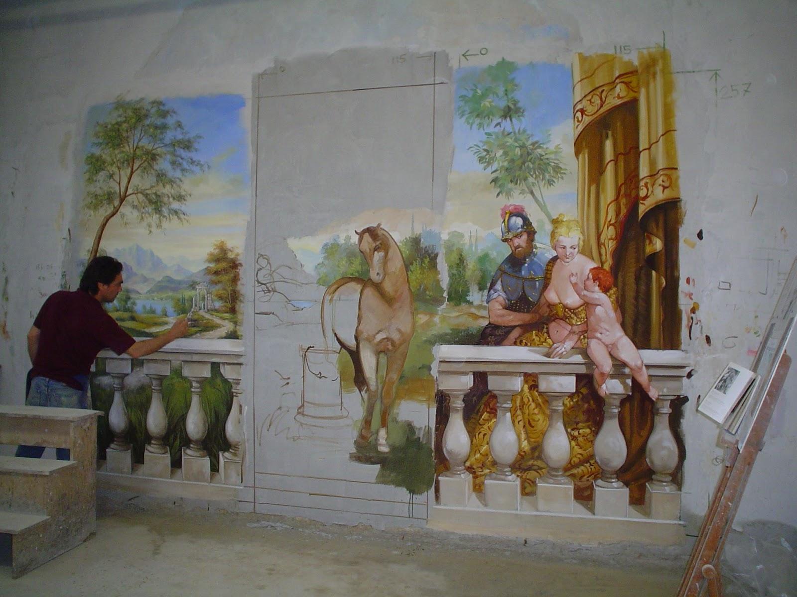 7 - Dipinti murali per interni ...