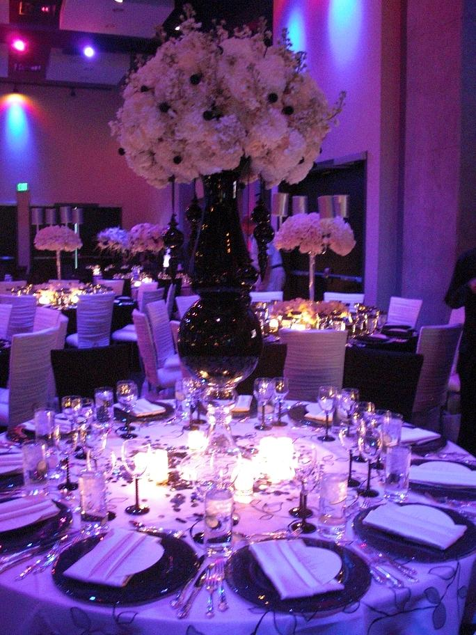 Purple wedding venue decorations for Wedding table decoration ideas