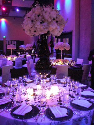Purple Wedding Decorations on Purple Wedding Venue Decorations