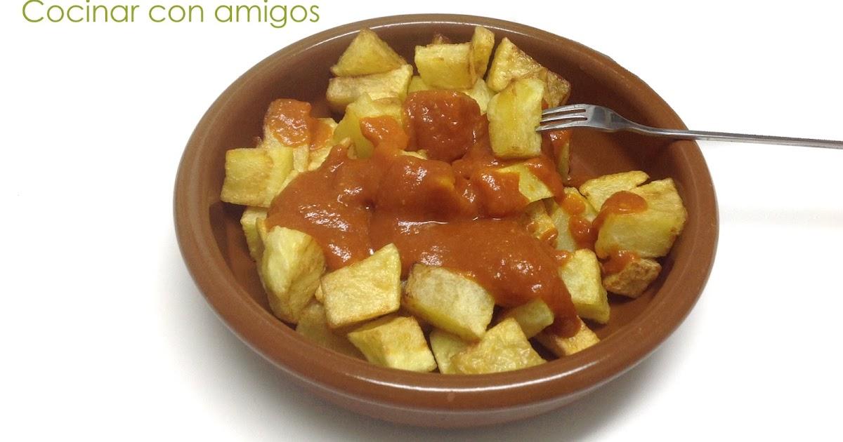 Patatas bravas caseras cocinar con amigos Cocinar con 5 ingredientes