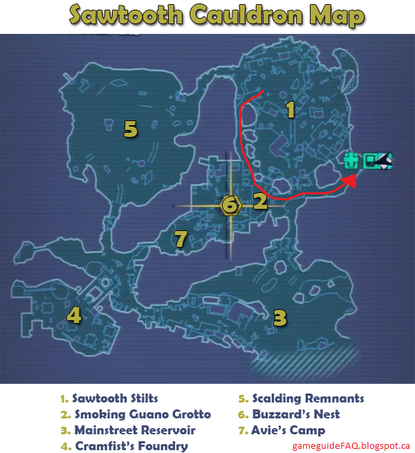 SawtoothCauldronMap_tn gameguidefaq borderlands 2 stuck in sawtooth cauldron  at mifinder.co