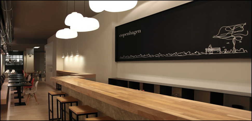 Copenhagen Valencia local. Restaurante cocina vegetariana
