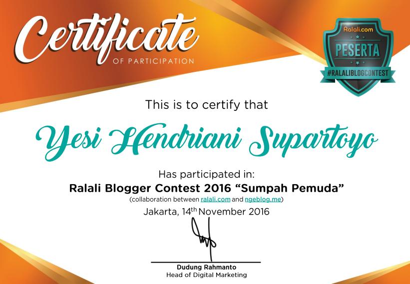 Ralali Blogger Contest 2016