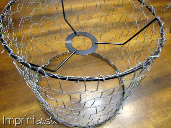Imprintalish diy chicken wire pendant light greentooth