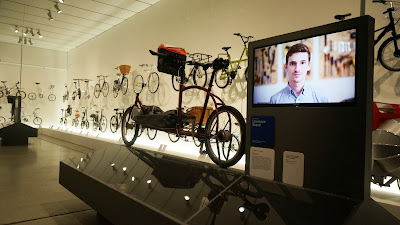 Porterlight Bicycles prototype cargo bike on display at London's Design Museum
