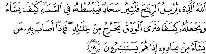 Surat Ar Rum Ayat 48