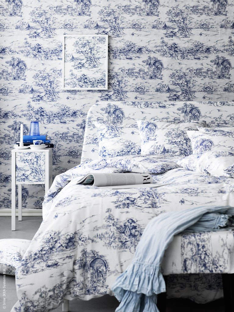 trendwelt vintage bettw sche toile de jouy. Black Bedroom Furniture Sets. Home Design Ideas