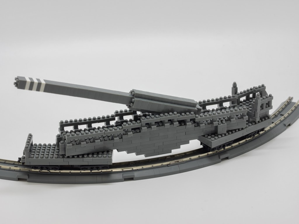 ナノブロックで作った28cm列車砲K5