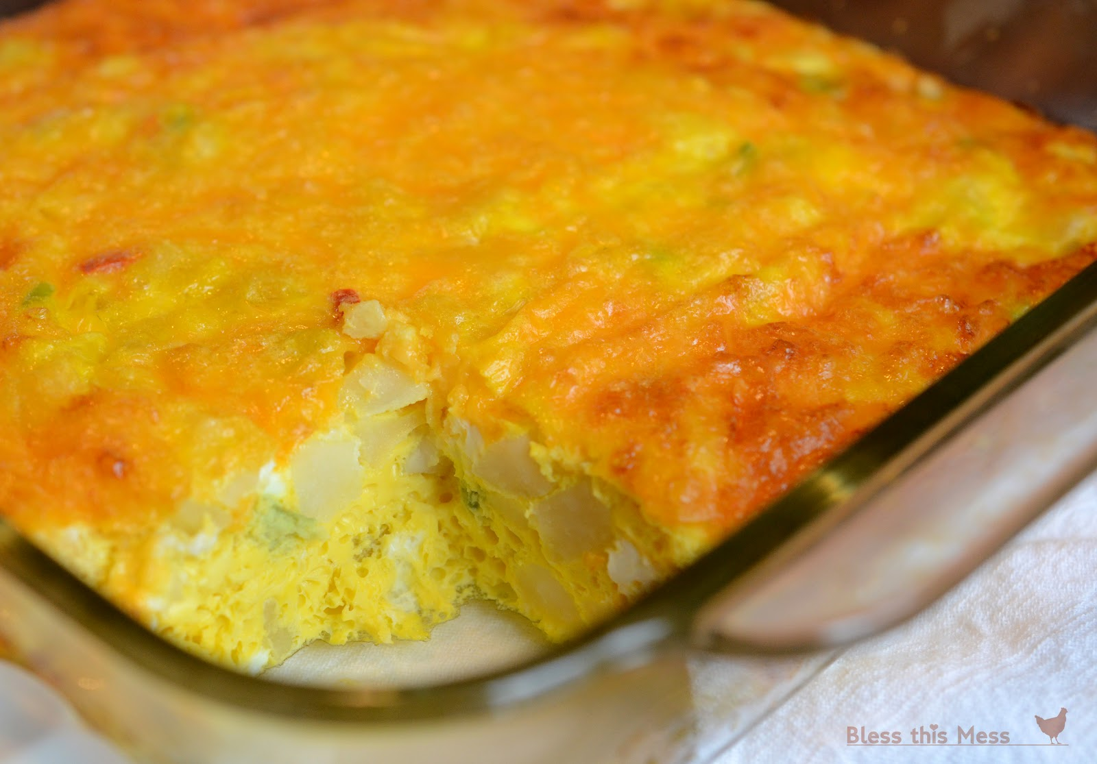 Easy Egg and Potato Breakfast Casserole - Bless This Mess