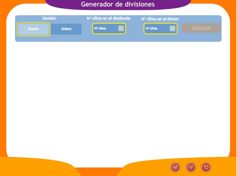 GENERADOR DE DIVISIONES
