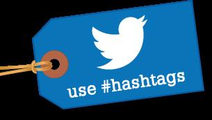 Use hashtags image