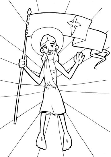 Dibujos para catequesis: JESÚS RESUCITADO