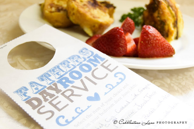 Father's Day Room Service Free Printable Gift Idea
